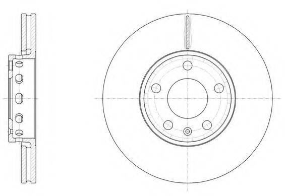 REMSA 632810 Тормозной диск