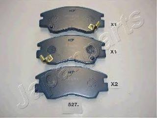 JAPANPARTS PA527P Комплект высокоэффективных тормозных колодок