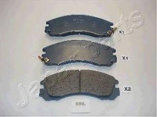 JAPANPARTS PA599P Комплект высокоэффективных тормозных колодок