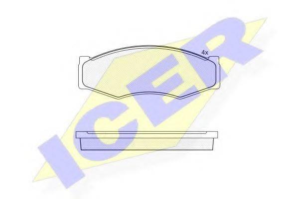 ICER 140526 Комплект тормозных колодок, дисковый тормоз