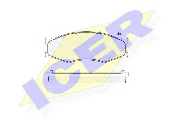 ICER 140526087 Комплект тормозных колодок, дисковый тормоз
