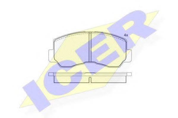 ICER 140623 Комплект тормозных колодок, дисковый тормоз