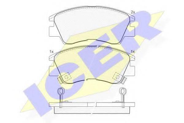 ICER 140701 Комплект тормозных колодок, дисковый тормоз