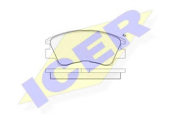 ICER 140791 Комплект тормозных колодок, дисковый тормоз