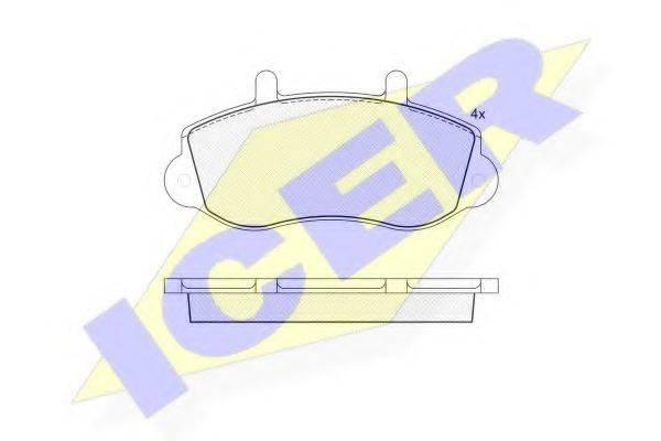ICER 141219 Комплект тормозных колодок, дисковый тормоз