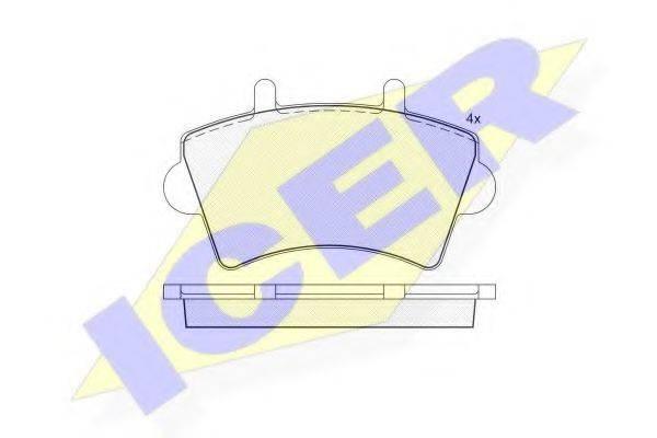 ICER 141442 Комплект тормозных колодок, дисковый тормоз