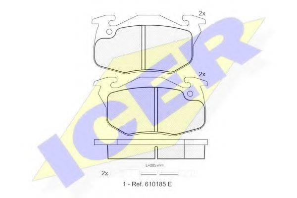 ICER 180633 Комплект тормозных колодок, дисковый тормоз