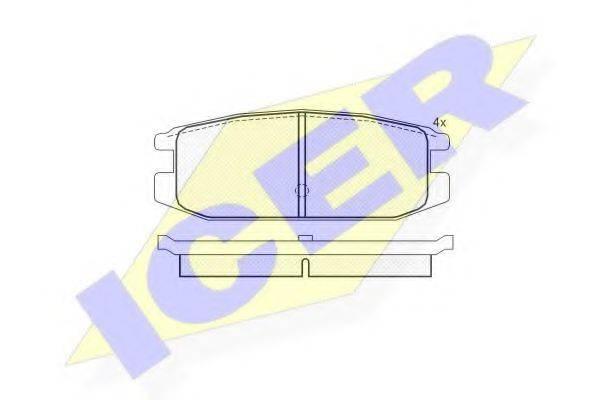 ICER 180650 Комплект тормозных колодок, дисковый тормоз