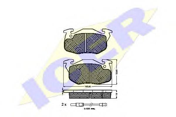 ICER 180695 Комплект тормозных колодок, дисковый тормоз