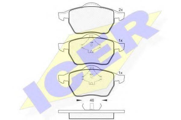 ICER 181138 Комплект тормозных колодок, дисковый тормоз