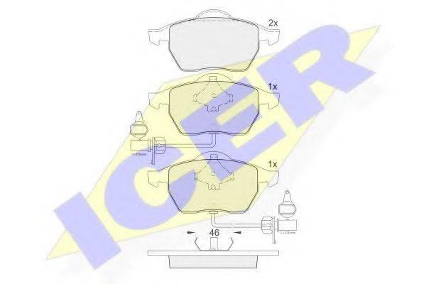 ICER 181362 Комплект тормозных колодок, дисковый тормоз