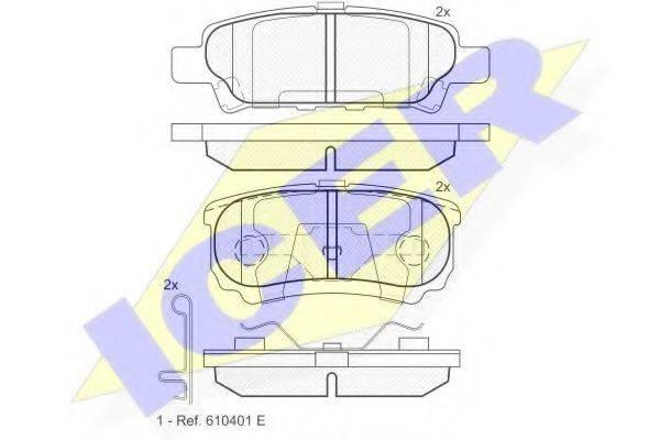 ICER 181746 Комплект тормозных колодок, дисковый тормоз