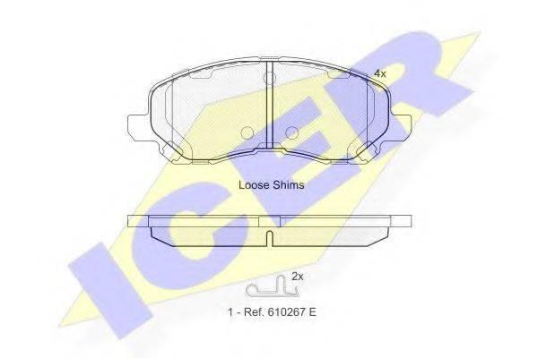 ICER 181806 Комплект тормозных колодок, дисковый тормоз