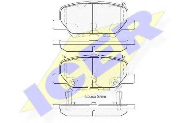 ICER 182118 Комплект тормозных колодок, дисковый тормоз