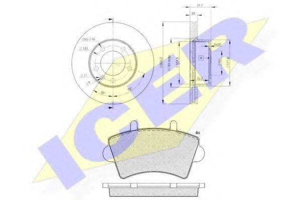 ICER 314426848 Комплект тормозов, дисковый тормозной механизм