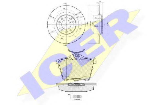 ICER 316584609 Комплект тормозов, дисковый тормозной механизм