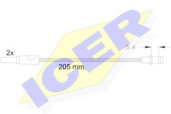 ICER 610185EC Сигнализатор, износ тормозных колодок