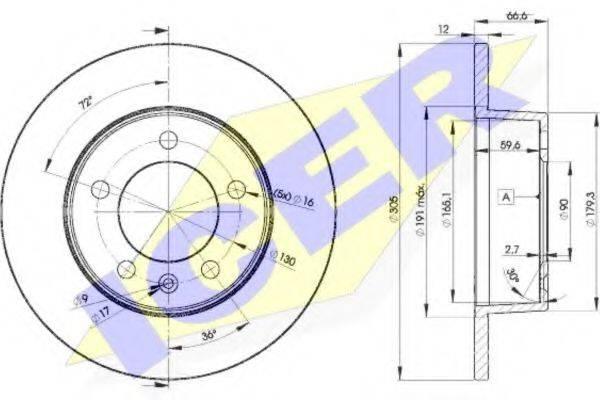 ICER 78BD14102 Тормозной диск