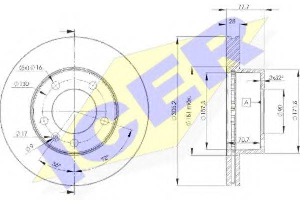 ICER 78BD68481 Тормозной диск