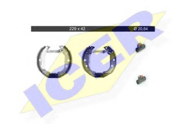 ICER 79KT0047C Комплект тормозных колодок