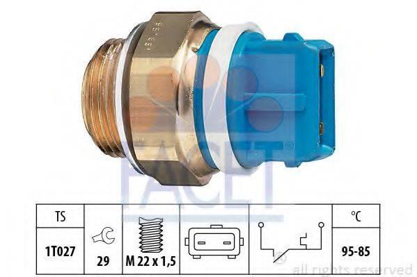 FACET 75122 Термовыключатель, вентилятор радиатора