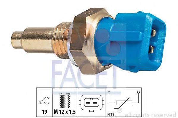 FACET 73143 Датчик, температура охлаждающей жидкости