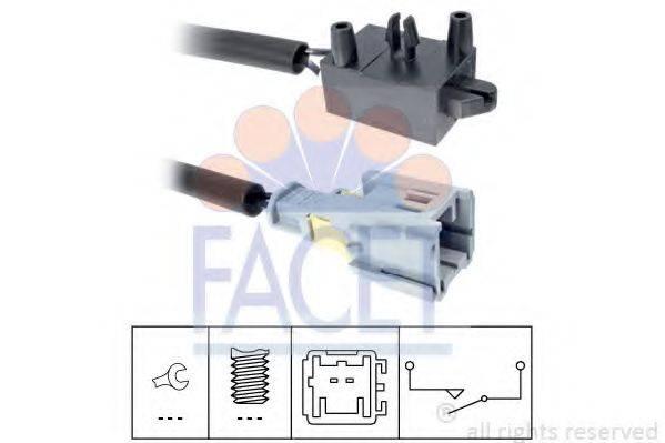 FACET 71210 Выключатель, привод сцепления (Tempomat)