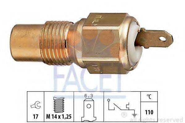 FACET 74030 термовыключатель, сигнальная лампа охлаждающей жидкости