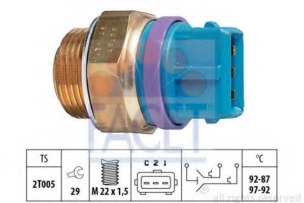 FACET 75629 Термовыключатель, вентилятор радиатора