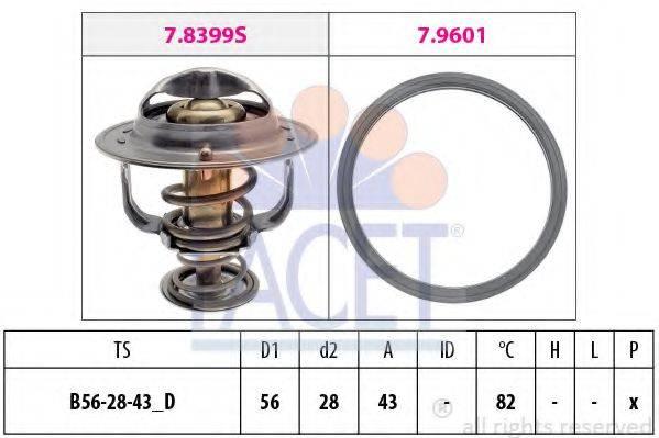 FACET 78404 Термостат, охлаждающая жидкость