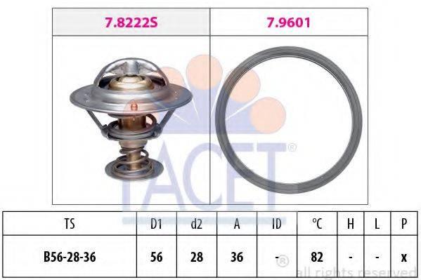 FACET 78728 Термостат, охлаждающая жидкость