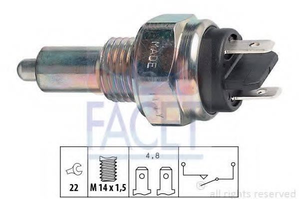 FACET 76015 Выключатель, фара заднего хода