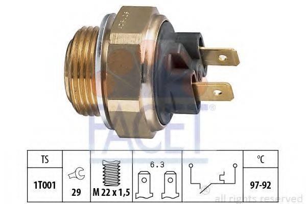 FACET 75111 Термовыключатель, вентилятор радиатора