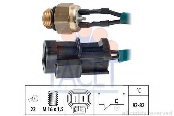 FACET 75060 Термовыключатель, вентилятор радиатора