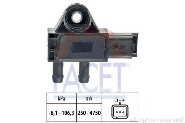 FACET 103271 Датчик давления воздуха, высотный корректор; Датчик, давление во впускном газопроводе
