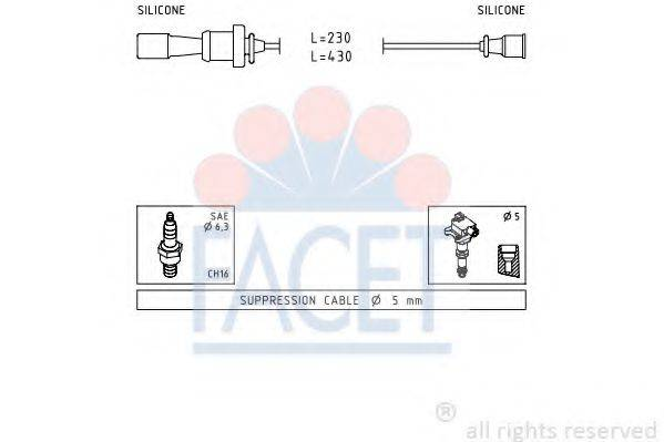 FACET 47251 Комплект проводов зажигания