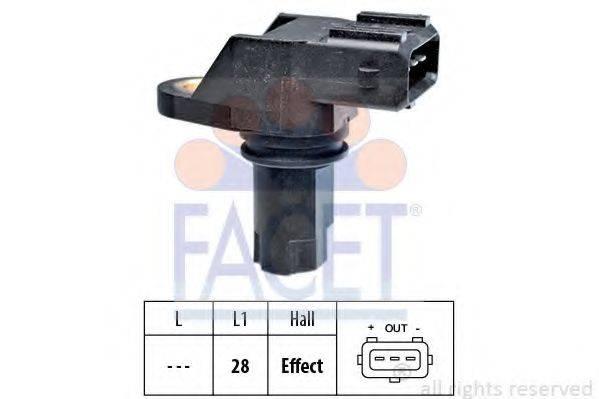 FACET 90349 Датчик импульсов; Датчик импульсов, маховик; Датчик частоты вращения, управление двигателем; Датчик, положение распределительного вала