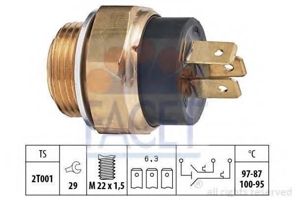 FACET 75613 Термовыключатель, вентилятор радиатора