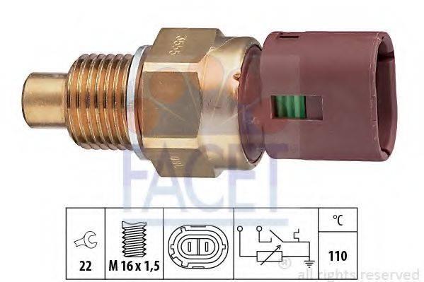 FACET 73555 Датчик, температура охлаждающей жидкости