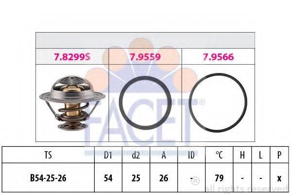 FACET 78299 Термостат, охлаждающая жидкость