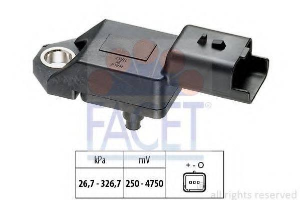 FACET 103136 Датчик давления воздуха, высотный корректор; Датчик, давление во впускном газопроводе
