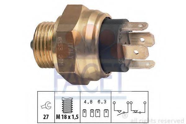 FACET 76153 Выключатель, фара заднего хода
