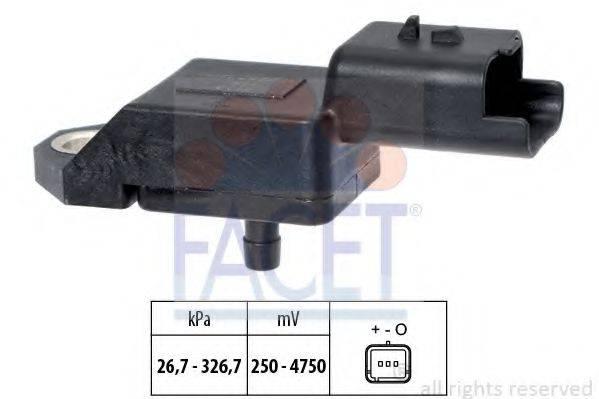FACET 103134 Датчик давления воздуха, высотный корректор; Датчик, давление во впускном газопроводе