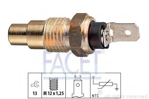 FACET 73078 Датчик, температура охлаждающей жидкости