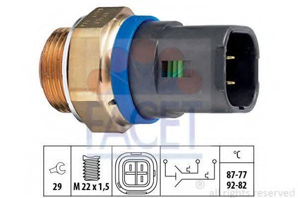 FACET 75647 Термовыключатель, вентилятор радиатора