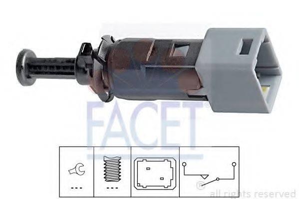 FACET 71150 Выключатель фонаря сигнала торможения; Выключатель, привод сцепления (Tempomat)