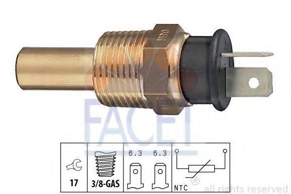 FACET 73228 Датчик, температура охлаждающей жидкости