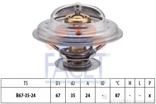 FACET 78410S Термостат, охлаждающая жидкость