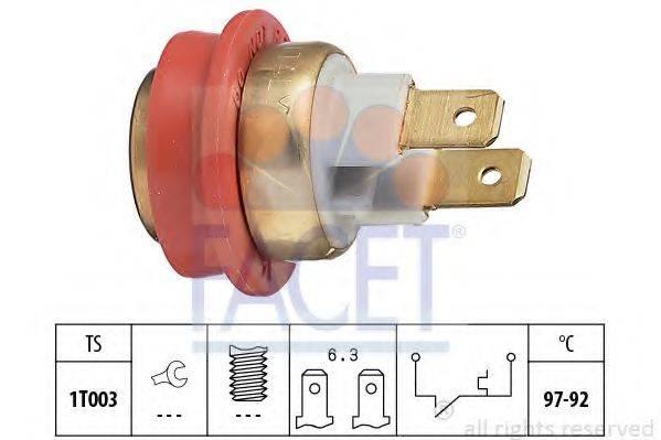 FACET 75093 Термовыключатель, вентилятор радиатора