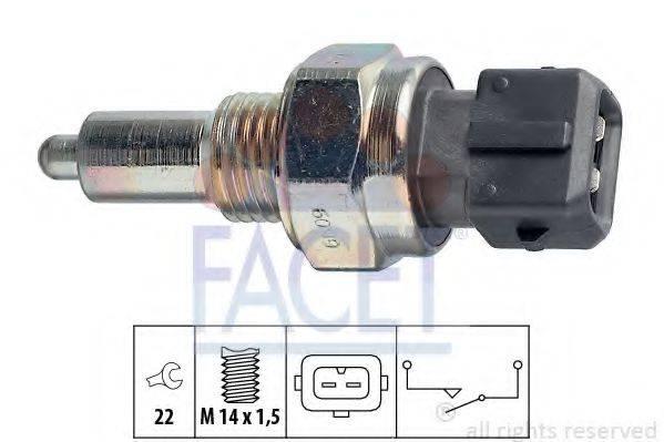 FACET 76099 Выключатель, фара заднего хода